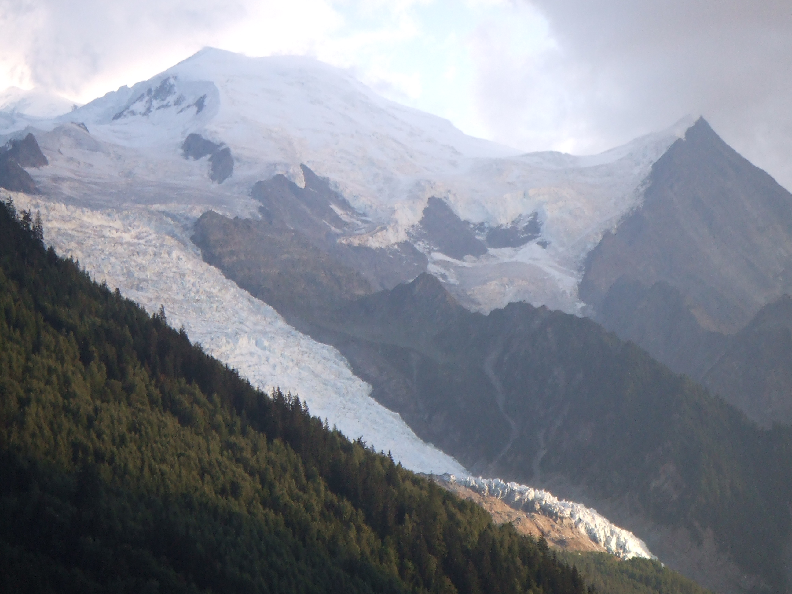Mont Blanc and Glacier des Bossons